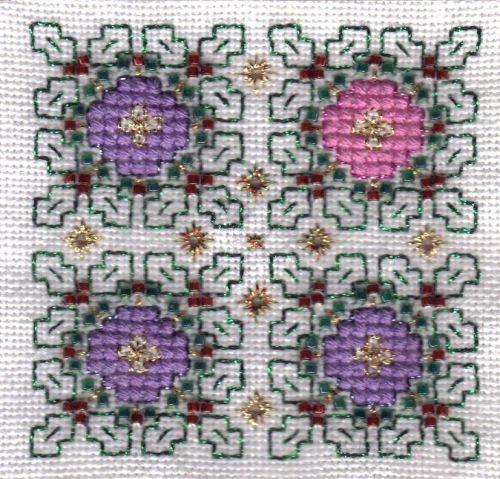 wreath biscornu - Advent