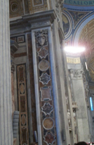 Column at St. Peter's, Vatican